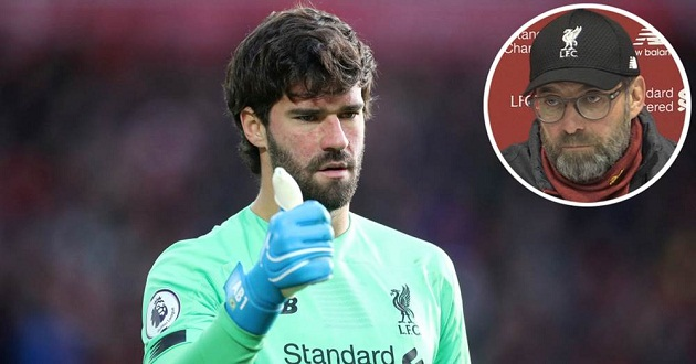Klopp on Alisson's impact vs Watford: 'He was doing warm-ups for 85 minutes but in other five, he showed what a goalie he is' - Bóng Đá