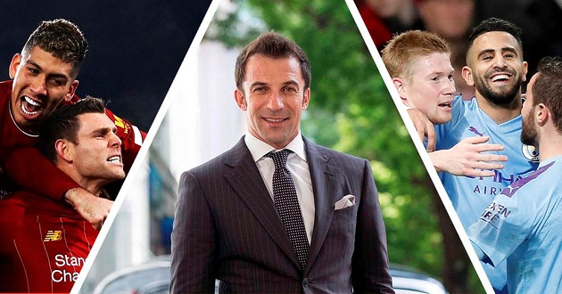 Del Piero picks Champions League winner between Man City and Liverpool - Bóng Đá