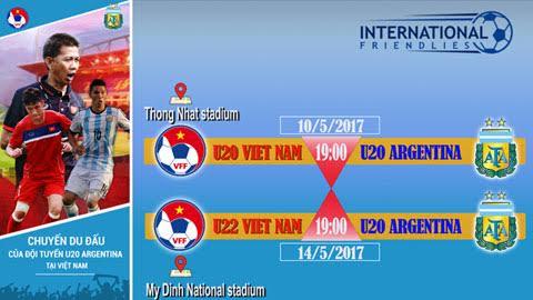 VFF công bố giá vé cho hai trận đấu của U20 Argentina tại Việt Nam - Bóng Đá
