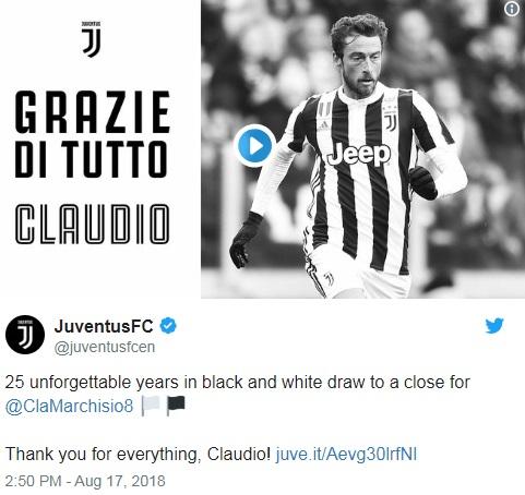 CHÍNH THỨC: Juventus chia tay