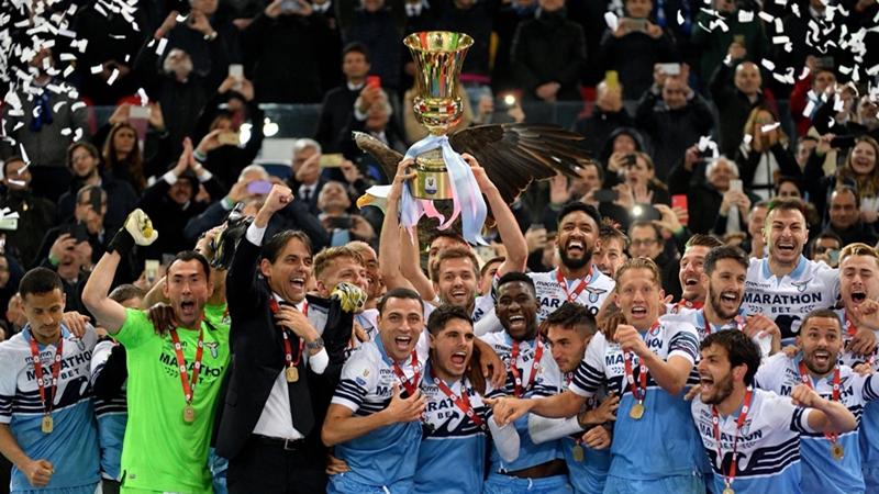 Ghi 2 bàn trong 8 phút, Lazio vô địch Coppa Italia - Bóng Đá