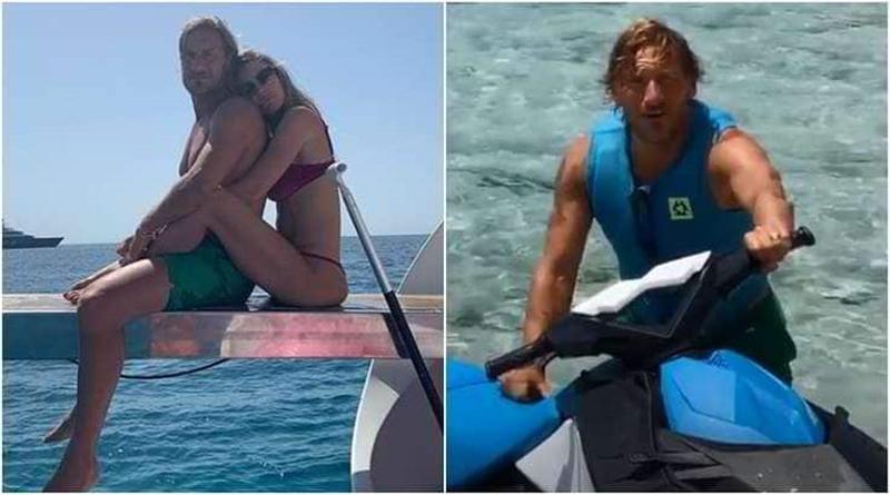 Gác lại nỗi buồn, huyền thoại AS Roma đi nghỉ mát cùng cựu người mẫu - Bóng Đá
