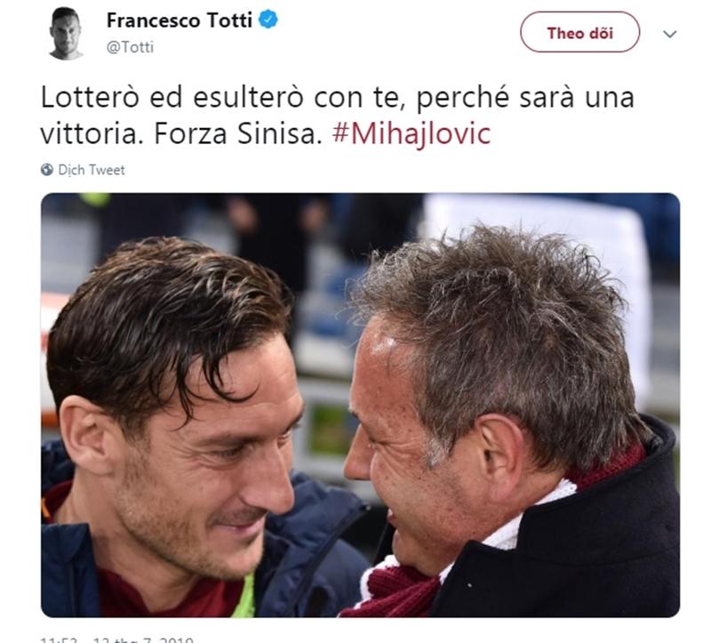 Totti nhắn Mihajlovic - Bóng Đá