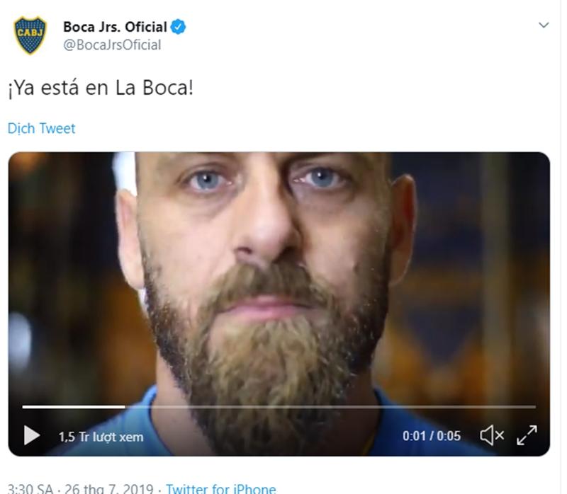 Daniele De Rossi về Boca Juniors - Bóng Đá