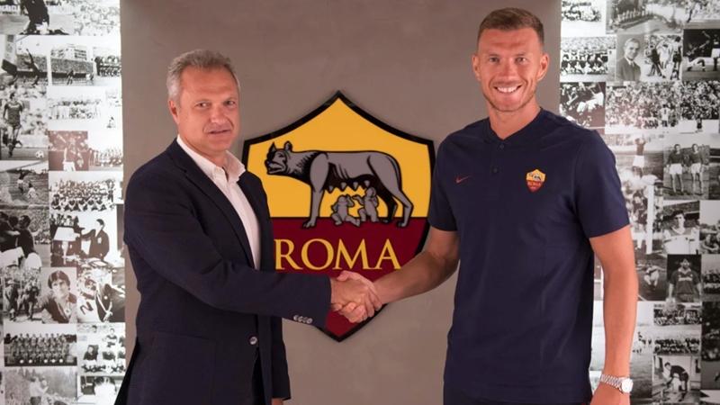 Edin Dzeko gia hạn hợp đồng với AS Roma - Bóng Đá