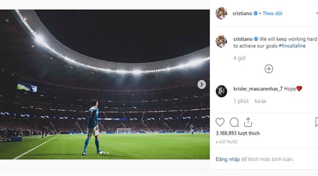 Ronaldo đăng thông điệp lên Instagram - Bóng Đá