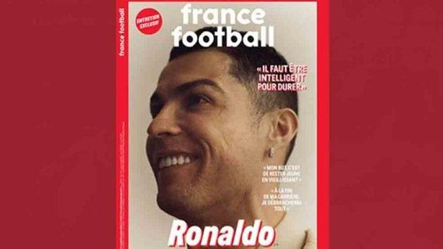 Ronaldo xuất hiện trên trang bìa France Football => Quả bóng vàng - Bóng Đá