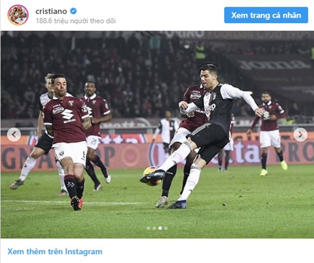 Cristiano Ronaldo đăng trên Instagram sau trận gặp Torino - Bóng Đá