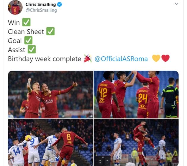 Smalling ăn mừng trên Twitter - Bóng Đá