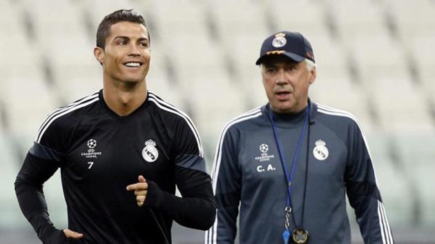 Ronaldo từng mời Ancelotti đến Juventus - Bóng Đá