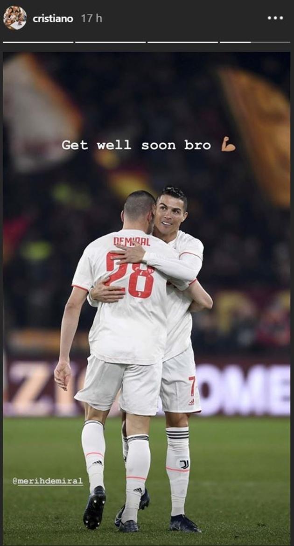 Ronaldo nhắn nhủ Demiral trên Instagram - Bóng Đá