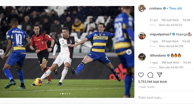 Ronaldo đăng trên Instagram - Bóng Đá