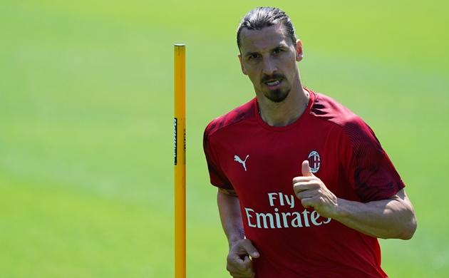 Ibrahimovic tập luyện cùng AC Milan - Bóng Đá