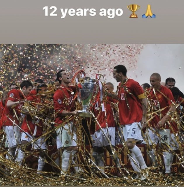 Cristiano Ronaldo reminisces over Manchester United's Champions League final win on Instagram - Bóng Đá