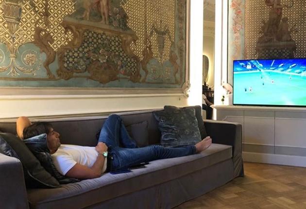 Conte theo dõi trận Chelsea - Liverpool - Bóng Đá