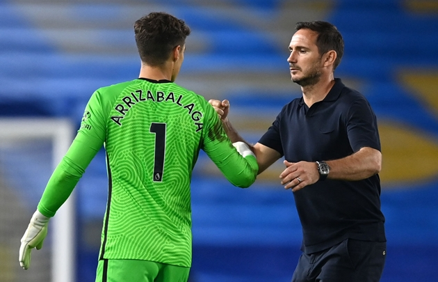 Frank Lampard has said goalkeeper Kepa Arrizabalaga still has a future at Chelsea - Bóng Đá