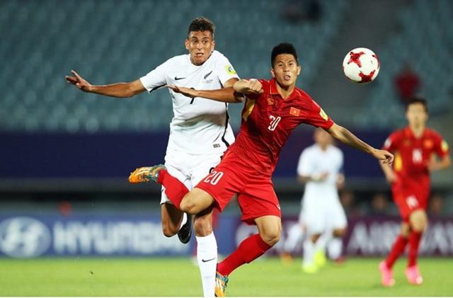 Cùng với Tiến Dũng, Đình Trọng đã chơi tốt ở hàng phòng ngự U23 Việt Nam.
