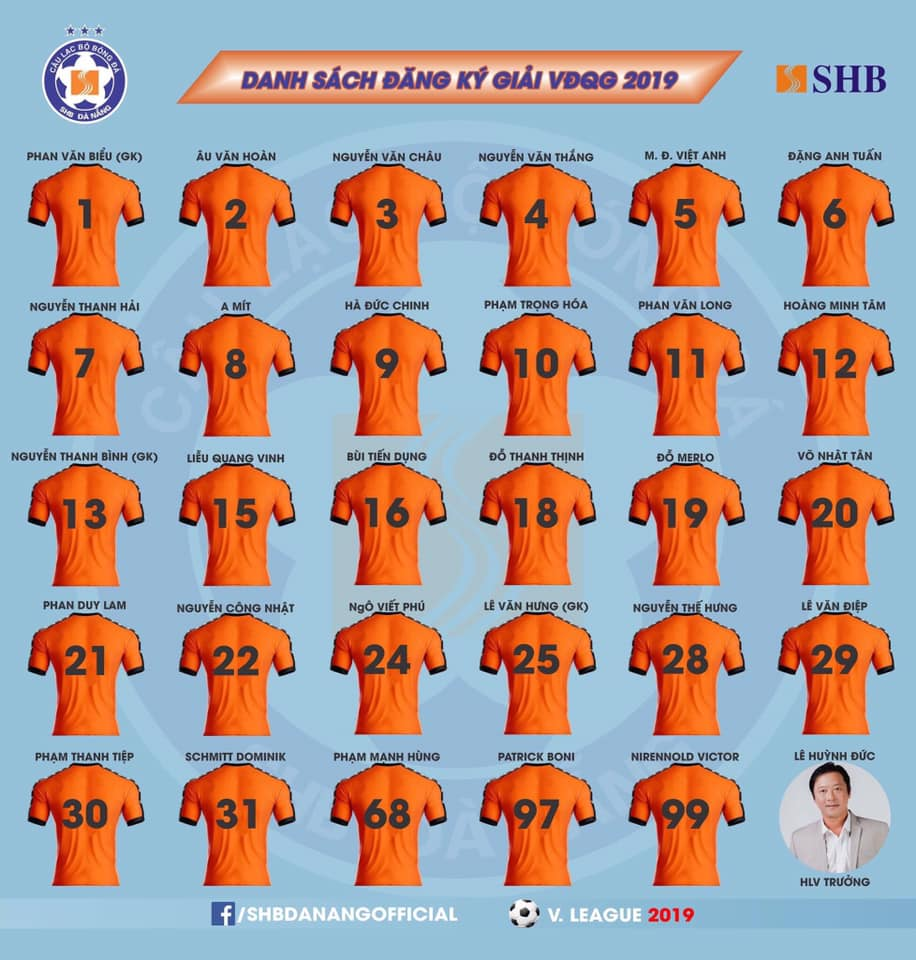 SHB Đà Nẵng chốt danh sách V-League 2019: Vắng trò cưng Miura, có Việt kiều - Bóng Đá