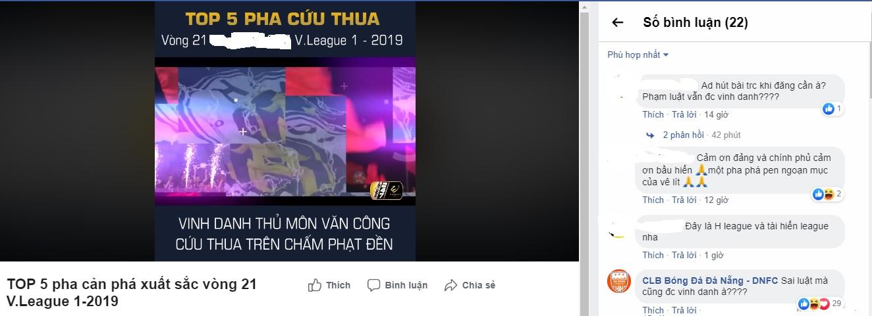 BTC V-League vinh danh thủ môn Hà Nội vì bắt sai luật? - Bóng Đá
