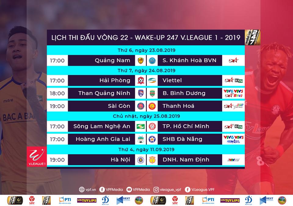 Trước vòng 22 V-League 2019: HAGL, Khánh Hòa nguy kịch? - Bóng Đá