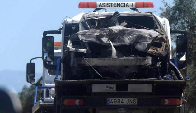 Hiện trường tang thương nơi Jose Antonio Reyes gặp nạn - Bóng Đá