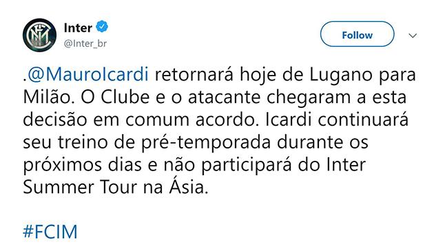 Official: Icardi leaves Inter camp - Bóng Đá