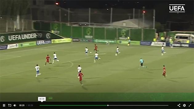 ảnh: đàn em Ronaldo vùi dập Azzurrini - Bóng Đá