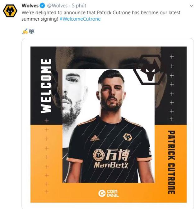 CHÍNH THỨC: Wolverhampton đón chào sao trẻ U21 Ý - Bóng Đá
