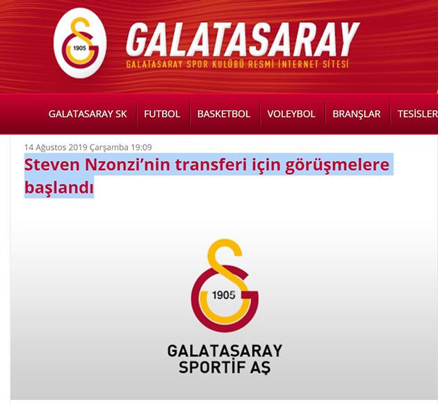 Galatasaray confirm Nzonzi deal - Bóng Đá