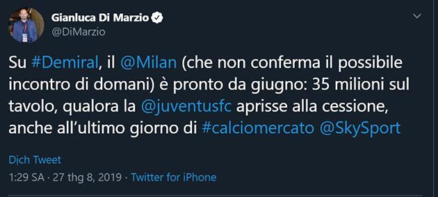 Demiral to Milan, Rugani stays? - Bóng Đá