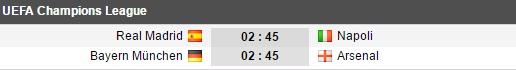 02h45 ngày 16/02, Real Madrid vs Napoli: Cr7 lãnh ấn tiên phong - Bóng Đá