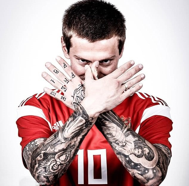 Loạt hình xăm trên tay ấn tượng của các cầu thủ World Cup - Bóng Đá