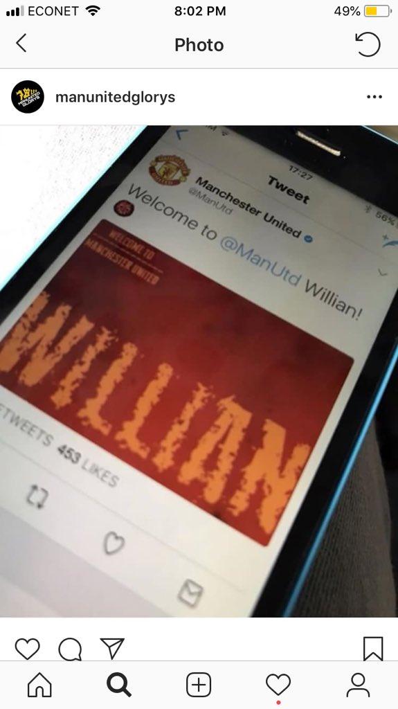 Twitter MU công bố ký hợp đồng với Willian - Bóng Đá