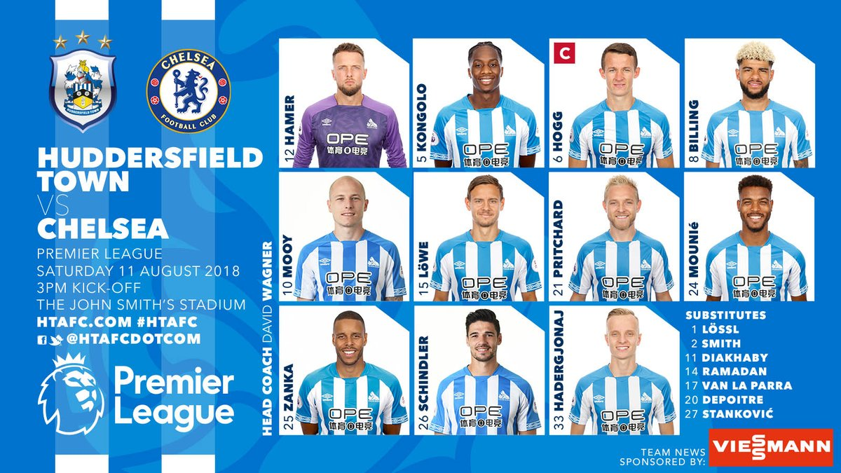 TRỰC TIẾP Huddersfield vs Chelsea: Bom tấn ra mắt? (Đội hình dự kiến) - Bóng Đá