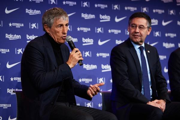 Tân HLV Barca phát biểu trong họp báo - Bóng Đá