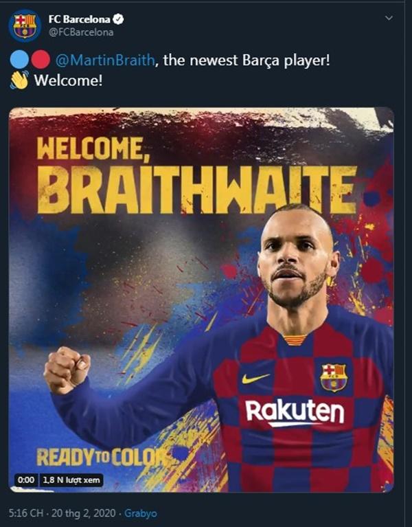 Barca chính thức chiêu mộ Martin Braithwaite - Bóng Đá
