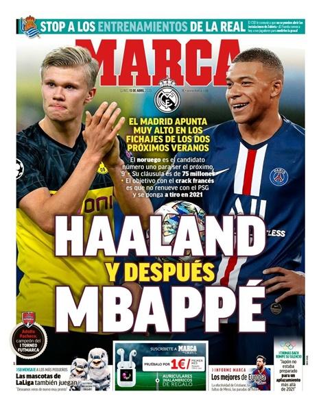 Real chiêu mộ Halaand và Mbappe - Bóng Đá