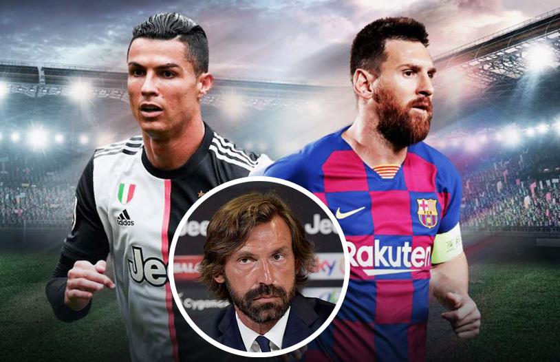 Pirlo từng làm phật lòng Ronaldo vì Messi - Bóng Đá