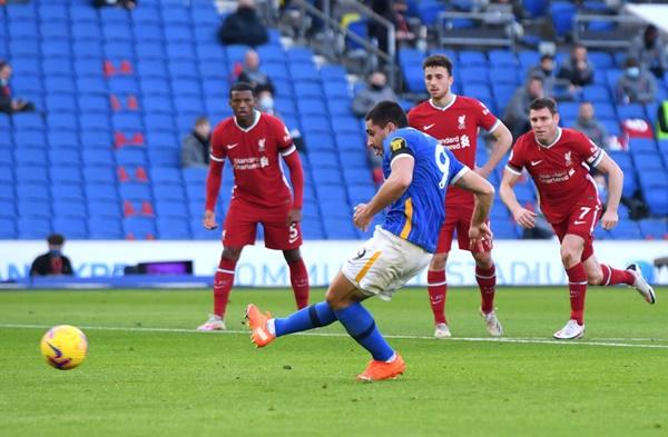 Nc247info tổng hợp: 5 điểm nhấn Brighton 1-1 Liverpool: Ác mộng bủa vây Jurgen Klopp