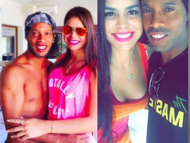 Ronaldinho và tình mới. Ảnh: Internet.