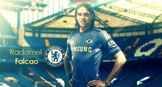 Tiền đạo Falcao (Monaco - Chelsea), cho mượn.