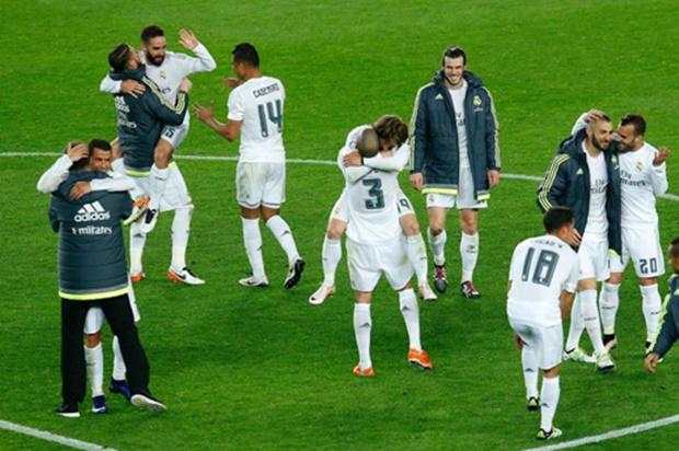 Các cầu thủ Real đã chơi khá hay trước Barca. Ảnh: Internet.