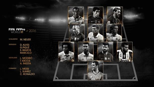 ĐH khủng bị loại khỏi FIFA FIFPro 2016: Tiếc Griezmann, Pogba - Bóng Đá