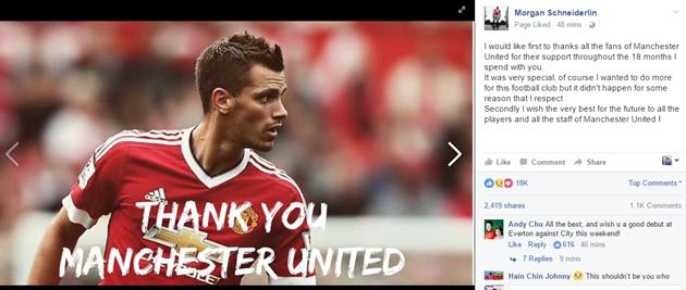 Rời Man Utd, Schneiderlin nói lời nghẹn ngào - Bóng Đá