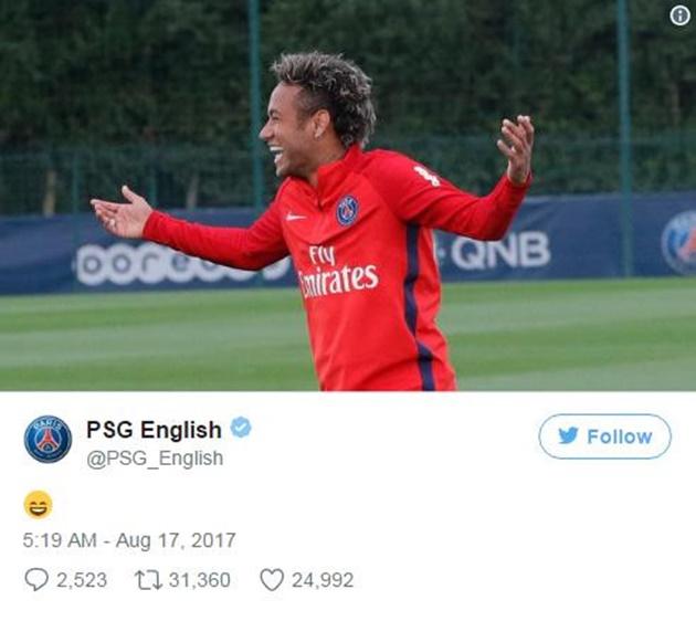 Thua sấp mặt, Barca còn bị PSG giễu cợt thông qua Neymar - Bóng Đá