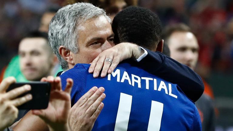 Mourinho đặt toàn bộ niềm tin cho Martial.