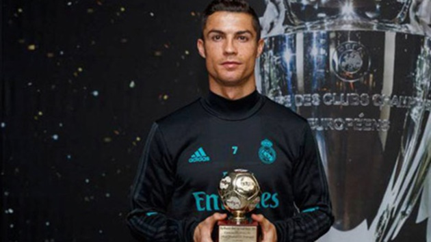 Ronaldo nhận giải 'Cây săn bàn xuất sắc nhất năm' - Bóng Đá