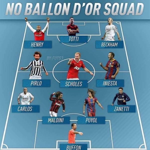 Andrea Pirlo & Đội hình vĩ đại chưa từng đoạt QBV - Bóng Đá