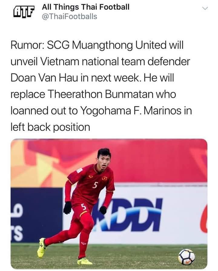 Báo Thái Lan: Văn Hậu chuẩn bị ra mắt Muangthong United - Bóng Đá
