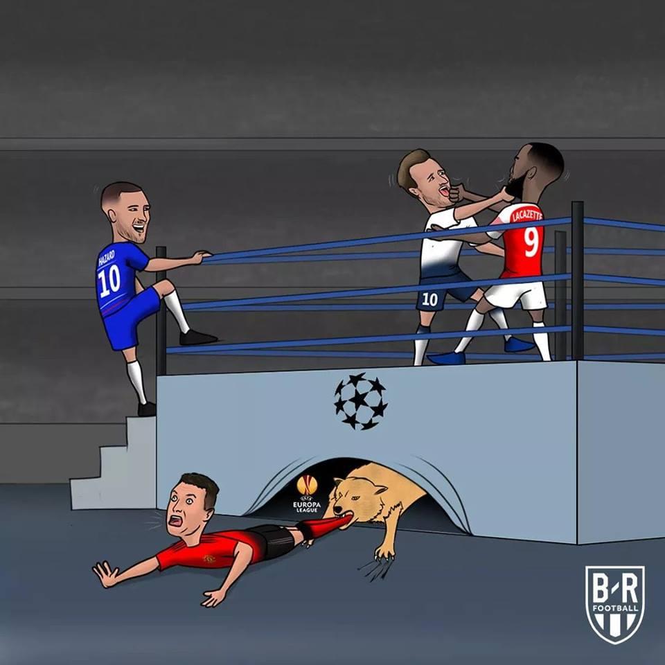 Biếm họa: Arsenal ngã, 3 kẻ vui; M.U đón ác mộng - Bóng Đá